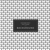 Abstract rounded geometric monochrome pattern