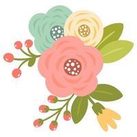 Blooming spring flowers  vector