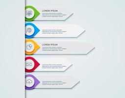 Business infographic template le concept