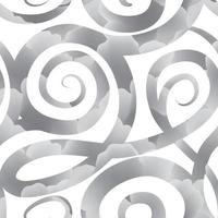 Abstract ornamental spiral seamless outline pattern
