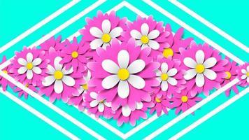 papel cortado estilo fondo floral vector
