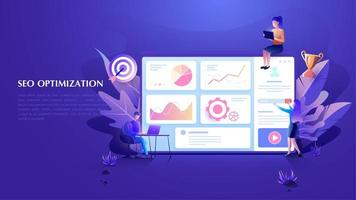 Modern flat design SEO Optimization concept SEO