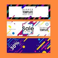 Abstract motion banners. Colorful geometric shapes composition. Trendy design. vector geometric banners set.