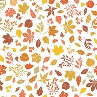 Floral autumnal leaf seamless pattern vector