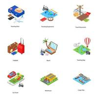 Holiday Isometric Icons  vector