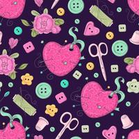 Seamless pattern of  sewing accessories.