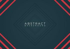 Modern abstract red and black minimal frame  vector