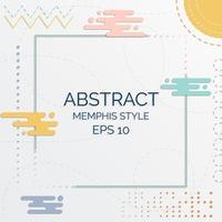 Abstrakter Pastellmemphis-Arthintergrund