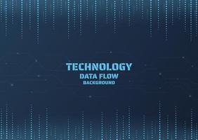 Technology dot data background