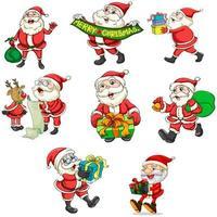 Santa Claus en zijn rendieren