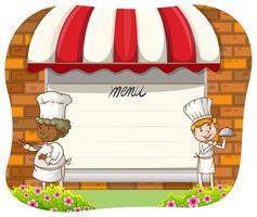 Chefs y menu vector