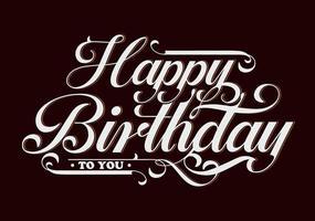 Happy birthday typographic and  lettering vector