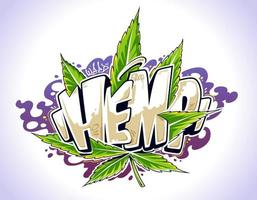 Hemp Graffiti Vector Art