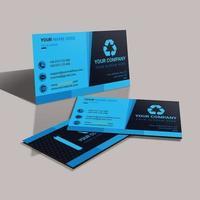 Design de modelo de cartão azul corporativo