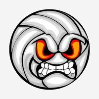 Angry football cartoon vector