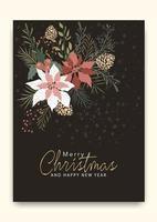 Patrón de tarjeta de felicitación de feliz navidad