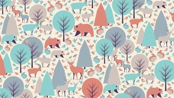 Mountain animals seamless pattern
