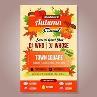 poster autumn festival template with foliage stuff