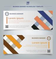 Set of template abstract geometric colorful template