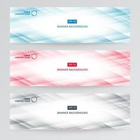 Banner web template abstract modern