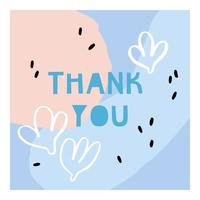 Thank you - vector illustration.