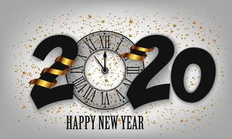 New Year Typographical Creative Background 2020  vector