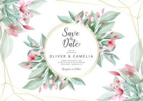 Horizontal wedding invitation card template