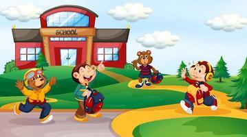 Tierstudent in der Schule Hintergrund