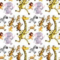 Seamless wild animals running