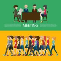 Concept d'entreprise infographique avec des gens vecteur