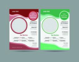 Modern Circular Business Flyer vector