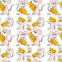 Seamless mouse with cheese