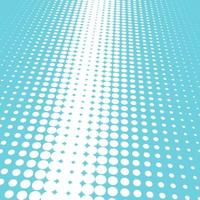 Halftone blue and white background