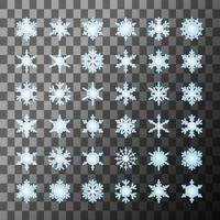 Snowflakes template collection