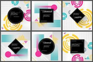 Abstract geometric pattern background set