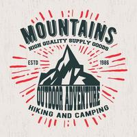 Mountains vintage stamp