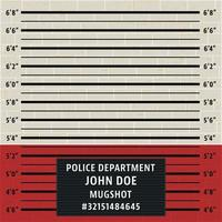 Police mugshot template vector