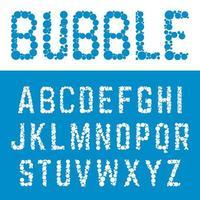Alphabet bubble font template.