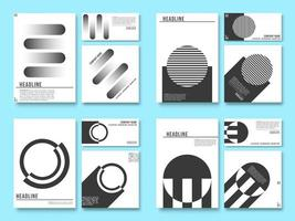 Minimal geometric design background for printing products