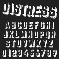 Rough alphabet font template