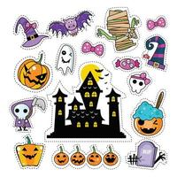 Halloween Icon Sticker Patches Set