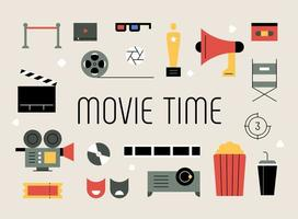 Movie related objects.  vector