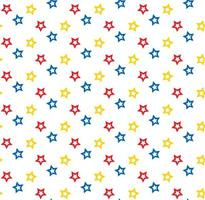 Colorful stars pattern vector