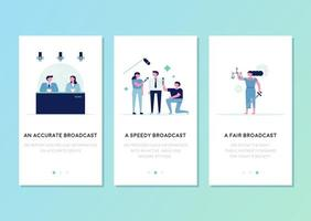 News broadcast anchors and reporters template