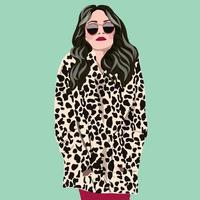 portrait style girl young women fashion  vector