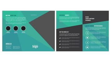 Plantilla de folleto bi fold vector