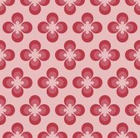 Motif floral géométrique rose et rouge