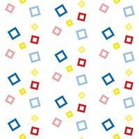 Padrão de quadrados coloridos flutuantes