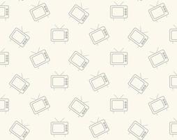 Retro tv icon pattern vector