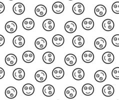 Smiling emoticons pattern vector